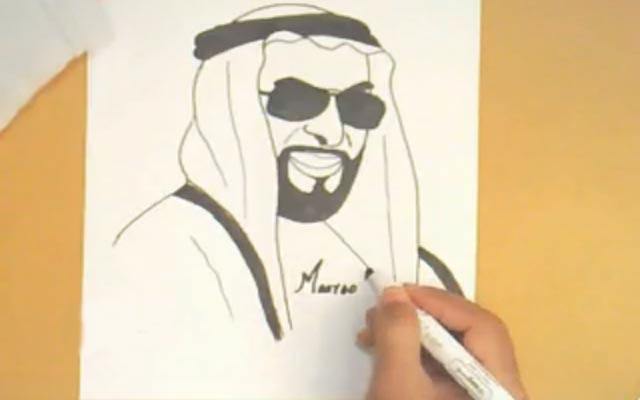 رسم للمغفور له الشيخ زايد بن سلطان في دقيقتين الفيديو البيان
