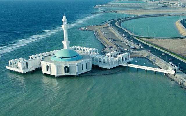 نتيجة بحث الصور عن المسجد العائم على كورنيش جدة