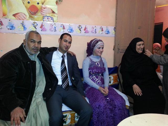 الصورة : طلعت ورانيا مع والد ووالدة طلعت