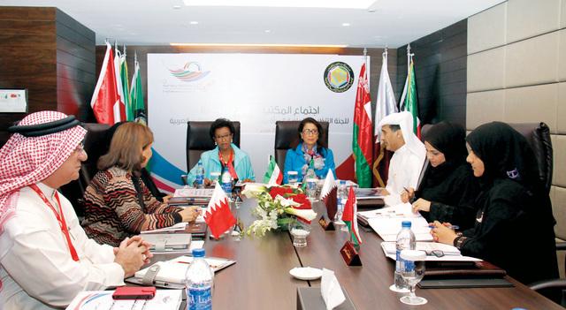 خلال اجتماع المكتب التنفيذي للدوره الثالثة لرياضة المرأة بدول مجلس التعاون