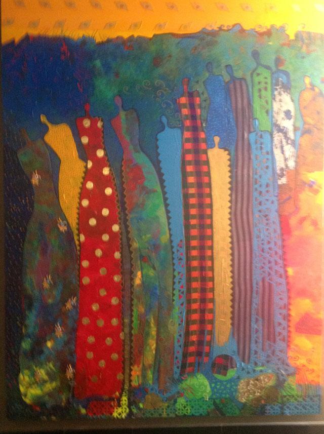 جدارية للفنانة التشكيلية نجاة مكي