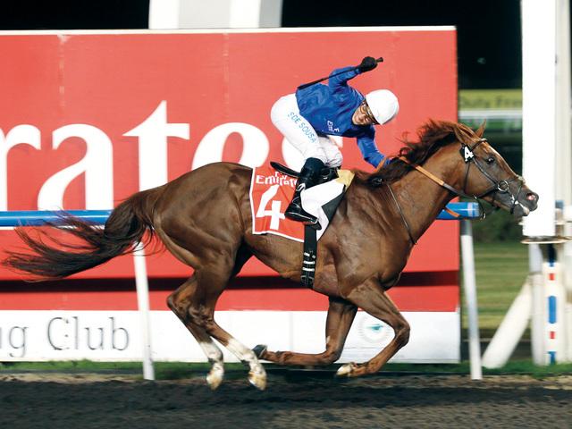 الصورة : «هنترز لايت» بطل الجولة الثالثة لكأس مكتوم للخيول المهجنة