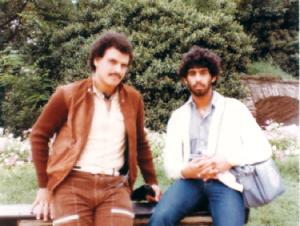الصورة : النقيب مع عبدالله النعيمي بمعسكر يوغسلافيا 1983