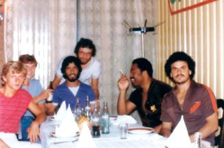 الصورة : لقطة للاعبي العين لليد خلال معسكر أقيم بيوغسلافيا قبل بطولة العرب 1983