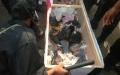 """الصورة: الصورة: بالفيديو: الشرطة تعثر على أسلحة داخل """"نعوش"""" باعتصام «النهضة»"""