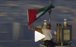 الصورة: ولي عهد دبي: هذا العلم اعتاد أن يكون في القمّة وستبقى القمم له
