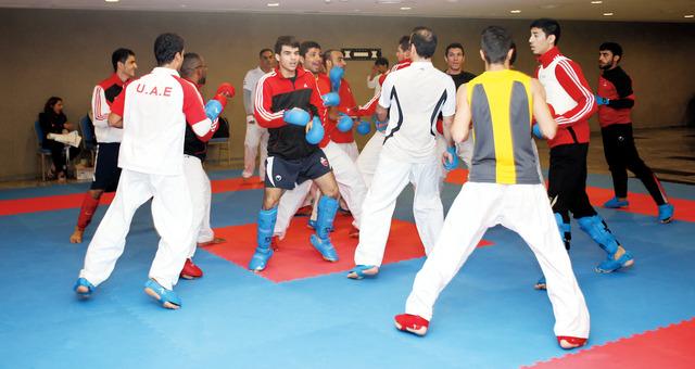 الصورة : نجوم «كاراتيه الإمارات» واجهوا صعوبات قبل البطولةالبيان