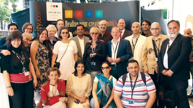 الصورة : وفد مهرجان دبي السينمائي إلى كان 2011