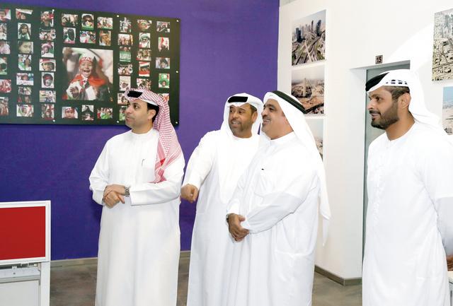 الصورة : ظاعن شاهين وعلي شهدور ومحمد النعيمي وناصر بطي المنصوري