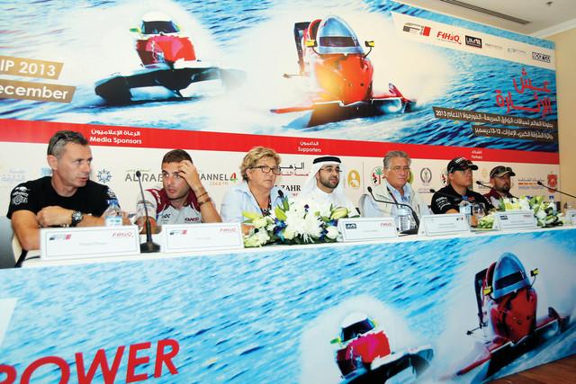 الصورة : خلال المؤتمر الصحافي للإعلان عن السباقتصوير -يونس يونس