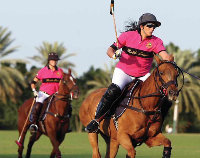 الصورة : ميثاء بنت محمد تقود فريقها للفوز الثانيتصوير - زافير ويلسون