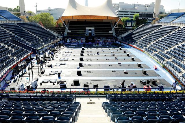 الصورة : استاد التنس جاهز لاستقبال المنافسات البيان