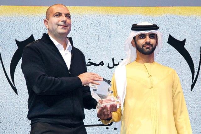 الصورة : ..ويكرم هاني أبو أسعد حيث فاز بجائزتي أفضل مخرج وفيلم عربي