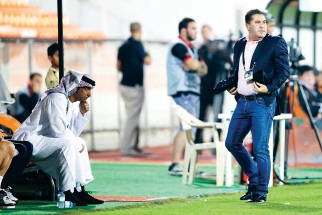 الصورة : باسيرو في إحدى انفعالاته أثناء المباراة  تصوير يونس يونس