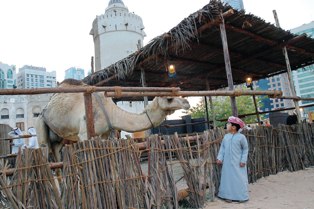 الصورة : ركن الصحراء أحد الأركان الأساسية ضمن الفعاليات التراثية