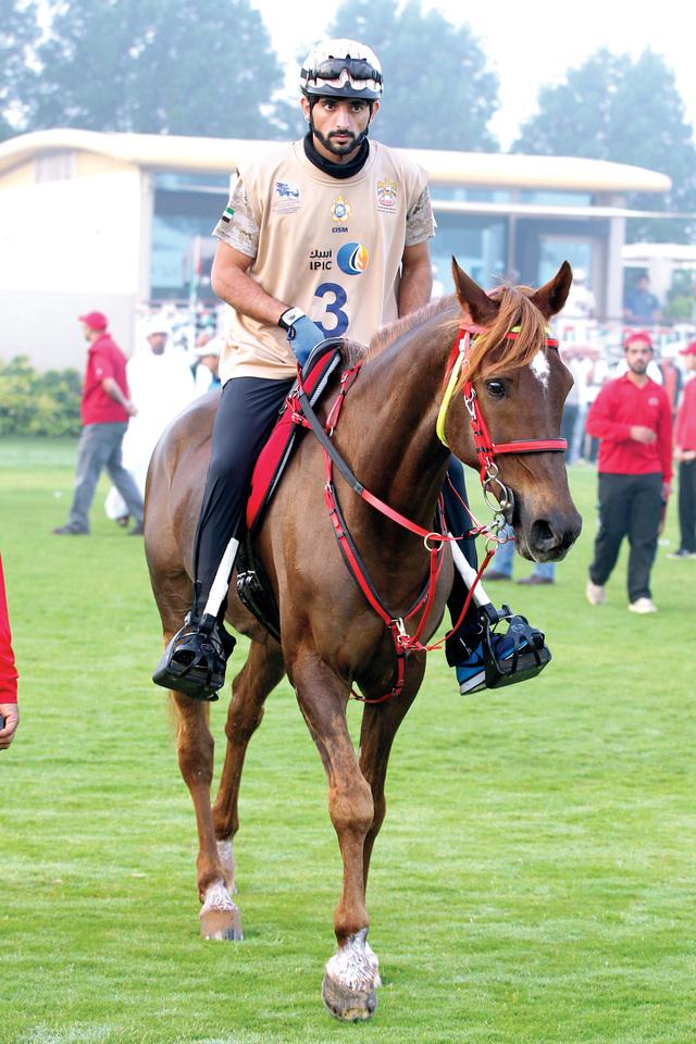 حمدان بن محمد بطلاً للمرة الثانية