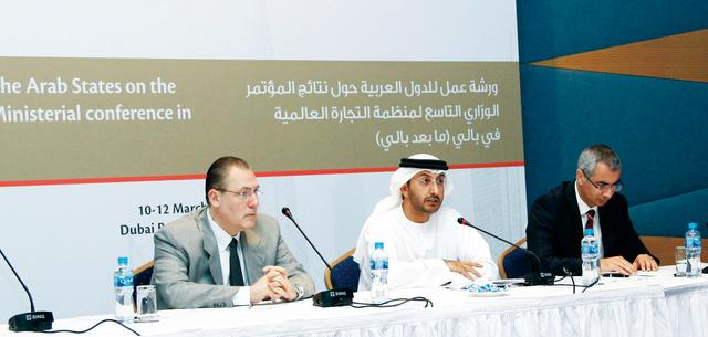 من أعمال ورشة العمل الإقليمية للدول العربية في دبي            البيان