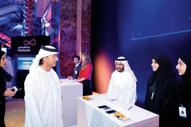 الصورة : هزاع بن زايد خلال حضوره حفل جائزة أبوظبي