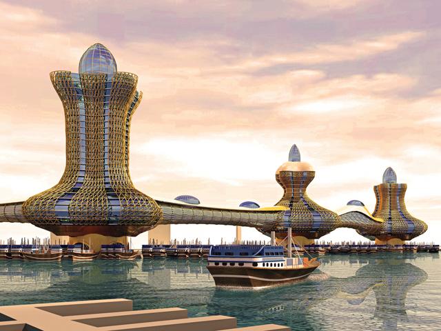 تصميم أبراج علاء الدين الثلاثة في الخور