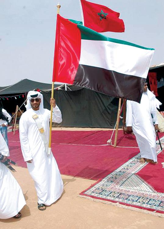 الصورة : علم الإمارات مرفرفاً في الفعاليات  البيان