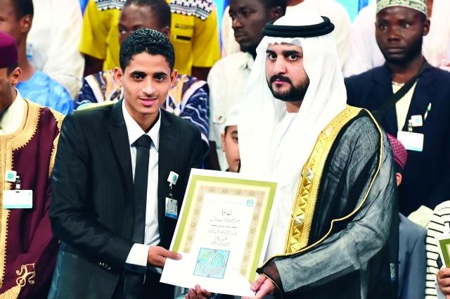 الصورة : سموه خلال تكريم الفائزين