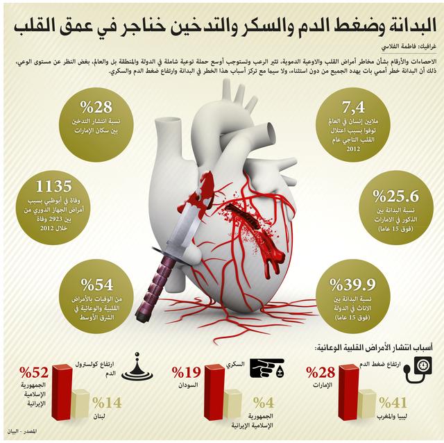 القلب يتسبب بـ25٪ من الوفيات في الدولة - البيان