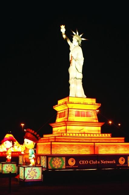 تمثال الحرية في جزيرة منهاتن بنيويورك