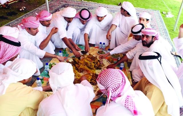 إكرام الضيف السنع الاماراتي كرتون