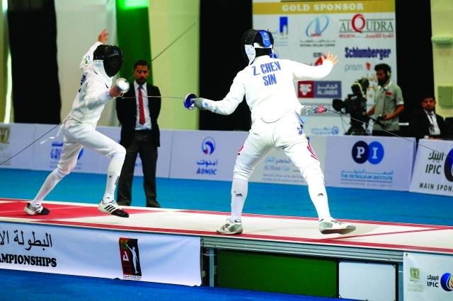 الصورة : من منافسات اليوم الثالث في البطولة - البيان