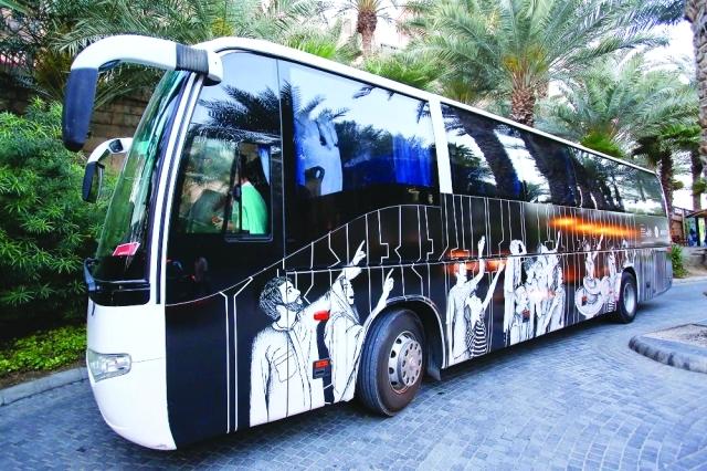 الصورة : «حافلة الفن» .. سياحة وثقافة وفنون في روض دبيمن المصدر