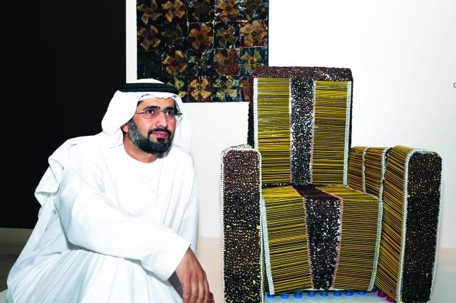 الصورة : كرسي القهوة مشاركة غانم الفلاسي تصوير - ناصر بابو