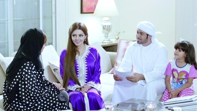 سعود الكعبي وريم حمدان في احد مشاهد المسلسل  من المصدر