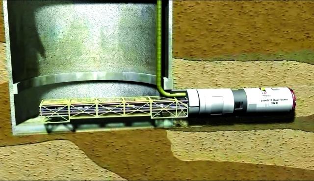 الصورة : ■ الحفار الذي سيتم استخدامه في أعمال المشروع  |  من المصدر