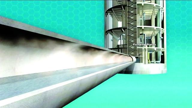 الصورة : ■ حصر الغازات المتجمعة داخل النفق  |  من المصدر