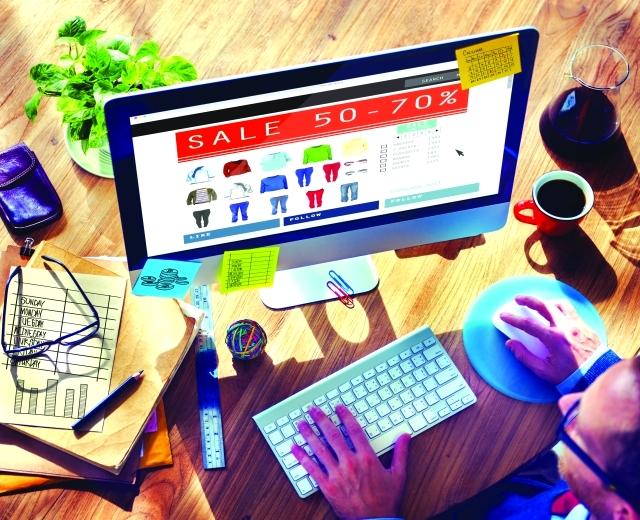 """""""الان"""" برجراف عن shopping online"""