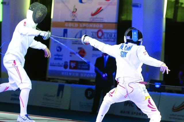 جانب من منافسات البطولة الآسيوية