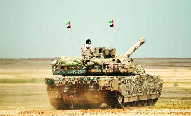 الصورة : القوات المسلّحة الإماراتية خلال مشاركتها في المناورات |  واس
