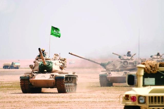 الصورة : القوات المسلحة السعودية خلال التدريبات  |  واس