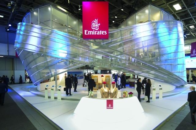 الصورة : Ⅶ منصة جناح طيران الإمارات في بورصة برلين  |  البيان