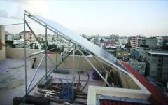 الصورة: الصورة: الألواح الشمسية تنير قطاع غزة