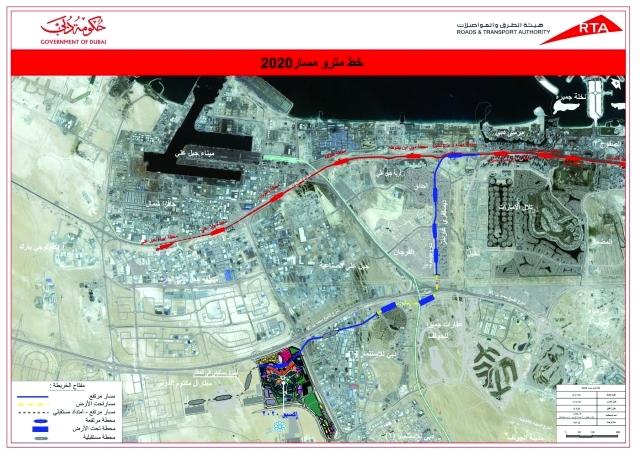 محمد بن راشــد مترو دبي مفخـرة معــماريــة وأصبح جزءا من طبيعة