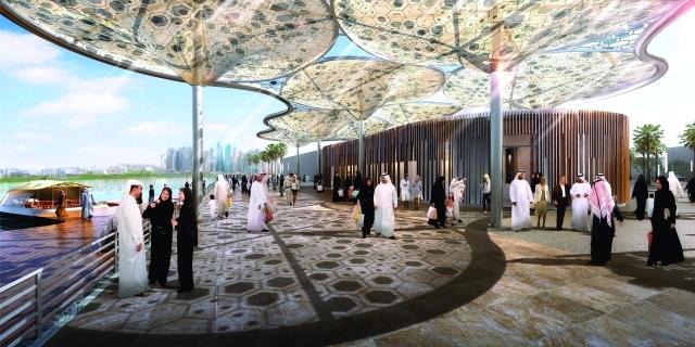 الصورة : مشروع محطة النقل البحري في «قناة دبي المائية»