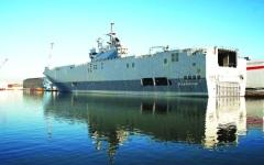 الصورة: الصورة: الهند تتسلم سفينة «إل سي يو إم كي 4»