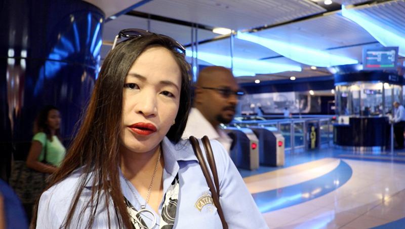ماريا/الفليبين: هنا ألتقي مع زميلاتي في العمل لنبدأ يوماً مفعماً بالنشاط والحيوية