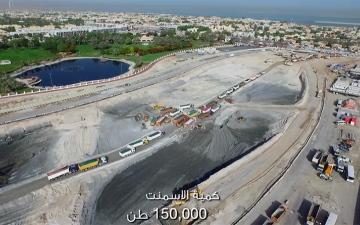 """الصورة: """"طرق دبي"""" تبث فيلماً لمراحل تشييد قناة دبي المائية"""