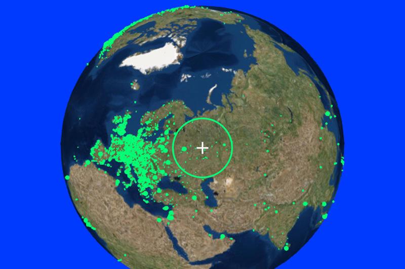 حلق في الكرة الأرضية واستمع إلى محطات الإذاعة من جميع أنحاء العالم