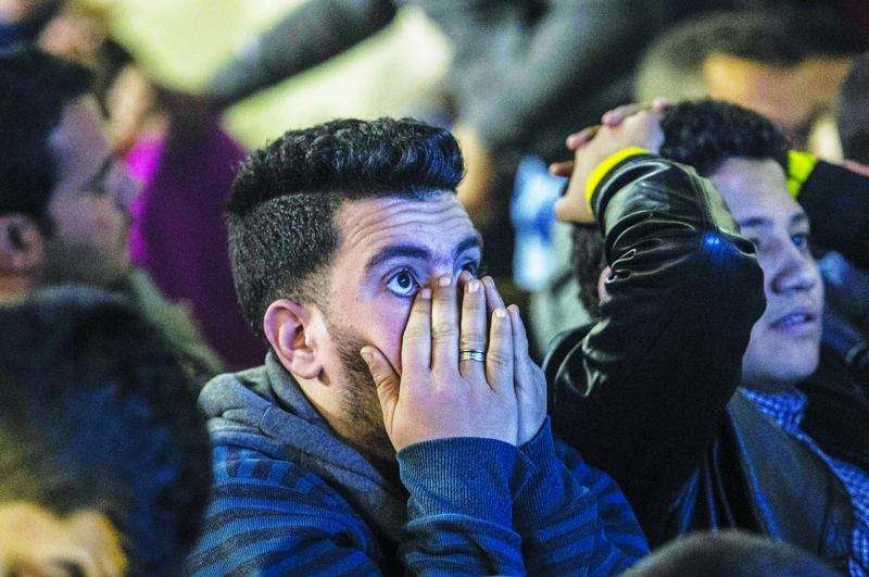 ■ الخسارة أذهلت الجمهور المصري     أ ف ب