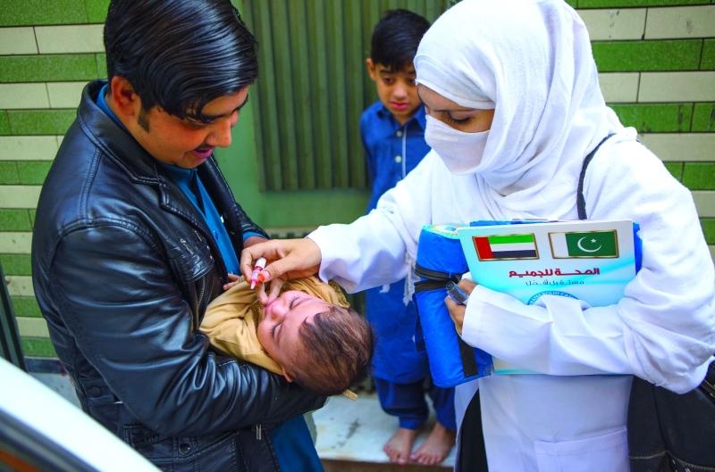 جهود حثيثة بذلتها الدولة للقضاء على شلل الأطفال   وام