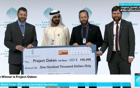 الصورة: الصورة: محمد بن راشد يكرم الفائزين بجوائز القمة العالمية للحكومات