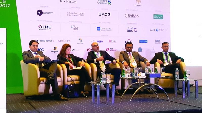 Ⅶ المتحدثون خلال جلسة «البلوك تشين عصب الاقتصاد الرقمي الجديد»  |  البيان